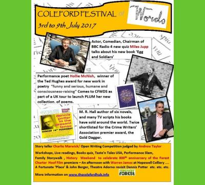 Coleford Festival of Words (3-9th July)