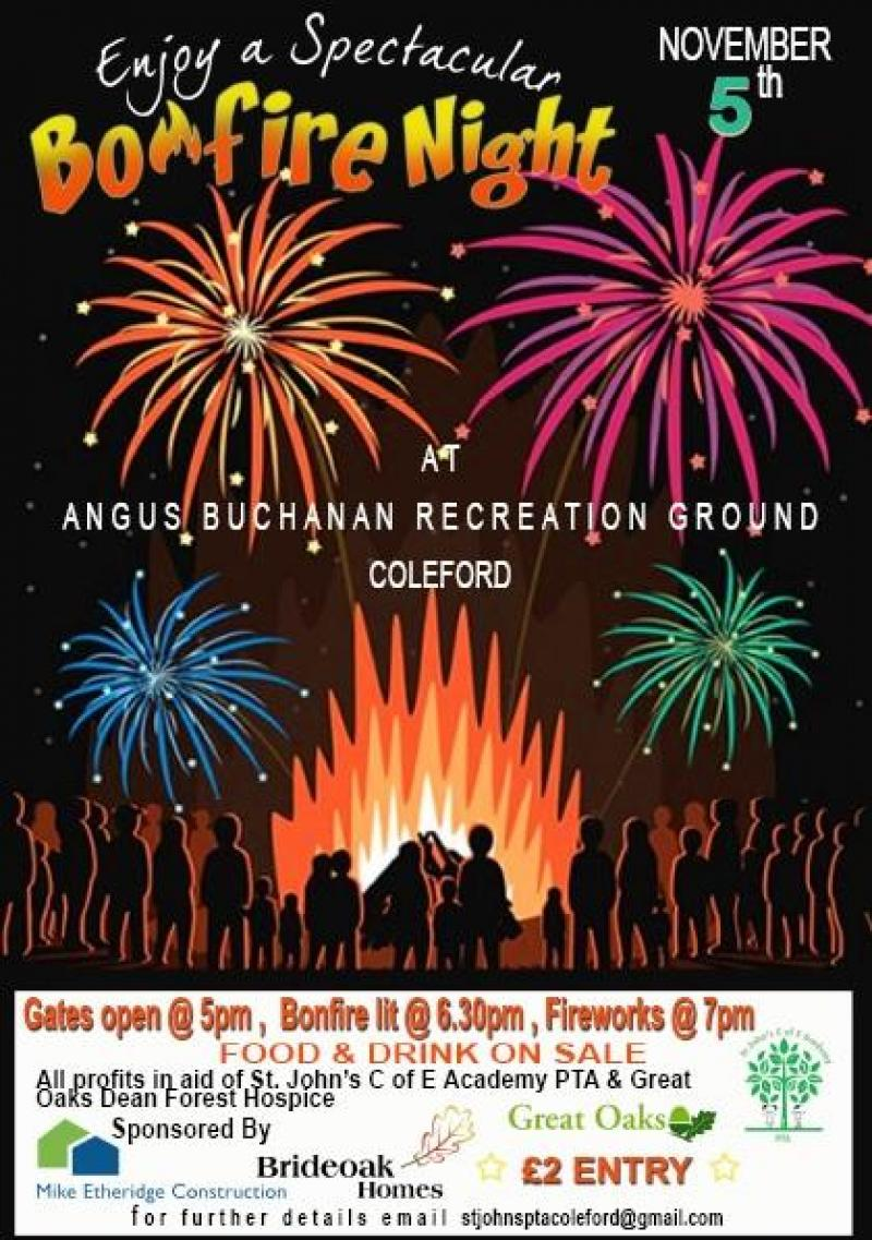 Bonfire Night at the Angus Buchanan Recreation Ground